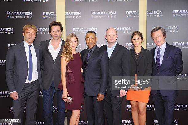 UN Chief of NY communications services Derk Segaar actors Billy Burke Tracy Spiridakos and Giancarlo Esposito executive producer Eric Kripke UN...