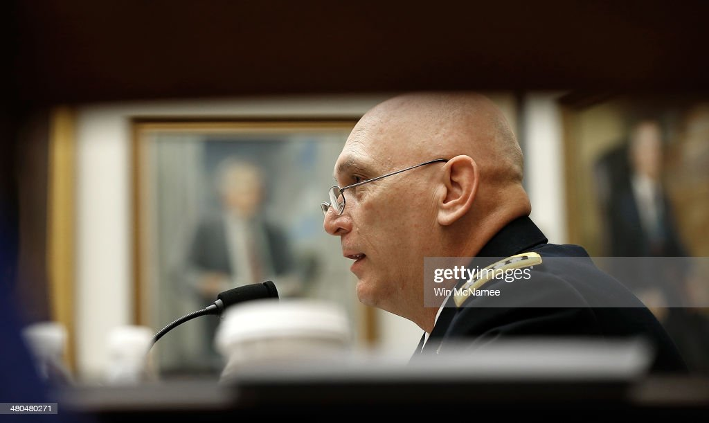 Chief of Staff of the Army Gen. Raymond Odierno testifies before the House Armed Services Committee March 25, 2014 in Washington, DC. Odierno testified on the fiscal year 2015 National Defense Authorization Budget Request from the Department of the Army.