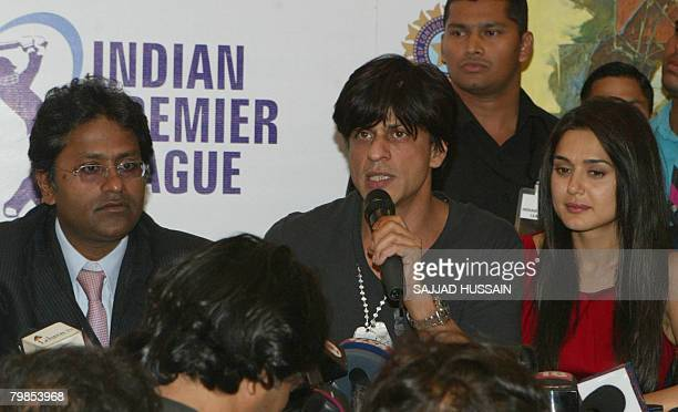 Chief of the Board of Control for Cricket in India the official in charge of the Twenty20 Indian Premier League Lalit Modi Indian actor and owner of...