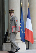 Chief of the Defence Staff French army General Pierre de Villiers arrives at the Elysee Palace for a security meeting with French President on July...