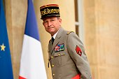 Chief of the Defence Staff French army General Pierre de Villiers arrives at the Elysee Palace in Paris on July 27 2016 for defence and security...