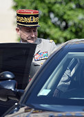 Chief of the Defence Staff French army General Pierre de Villiers leaves the Elysee Palace after a security meeting with French President on July 22...