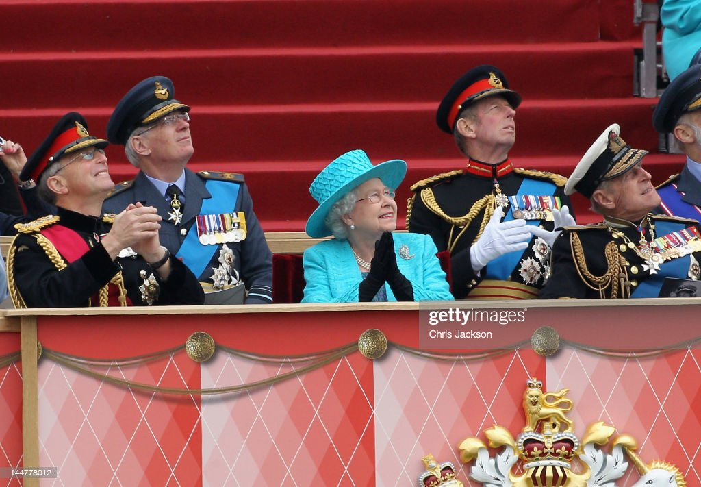 Chief Of The Defence Staff General Sir David Richards Queen Elizabeth II And Prince Philip