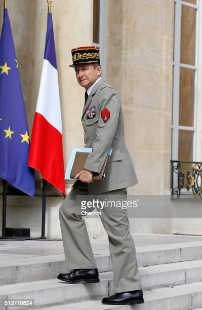 Chief of the Defence Staff of the French Army General Pierre de Villiers arrives to attend a meeting with German Chancellor Angela Merkel and French...