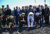 Chief of the General Staff of the Turkish Armed Forces Hulusi Akar and commandersinchief of Turkish armed forces lay flowers for the martyred...