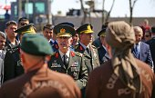 Chief of the General Staff of the Turkish Armed Forces Hulusi Akar and commandersinchief of Turkish armed forces inspect the area during their visit...