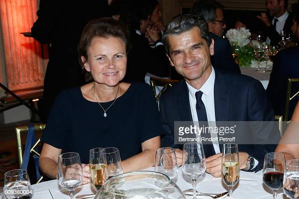 Chief operating officer of Christian Dior Couture Serge Brunschwig with his wife Valerie Brunschwig attend the Charity Dinner to Benefit 'Claude...