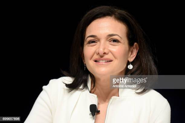 Chief Operating Officer of Facebook Sheryl Sandberg attends the Cannes Lions Festival 2017 on June 22 2017 in Cannes France