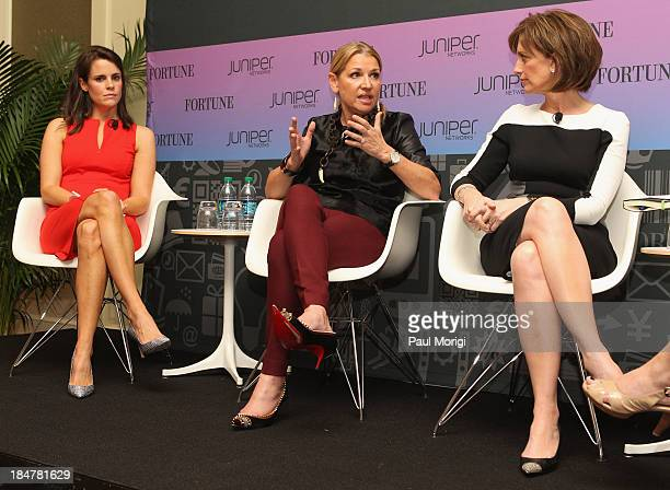 Chief operating officer of Instagram Emily White CEO of the Home Shopping Network Mindy Grossman and CoChair of Disney Media Anne Sweeney speak at...