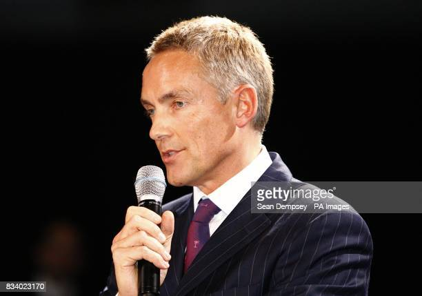 Chief Operating Officer of the McLaren Group Martin Whitmarsh during the launch of the Vodafone McLaren Mercedes MP423 at the MercedesBenz Museum...