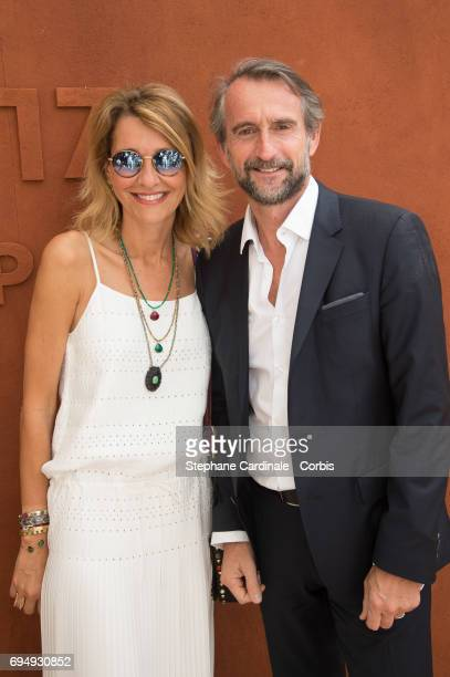 Chief Operating Officer of the PSG Football Club JeanClaude Blanc and his wife attend the Men Final of the 2017 French Tennis Open Day Fifteen at...