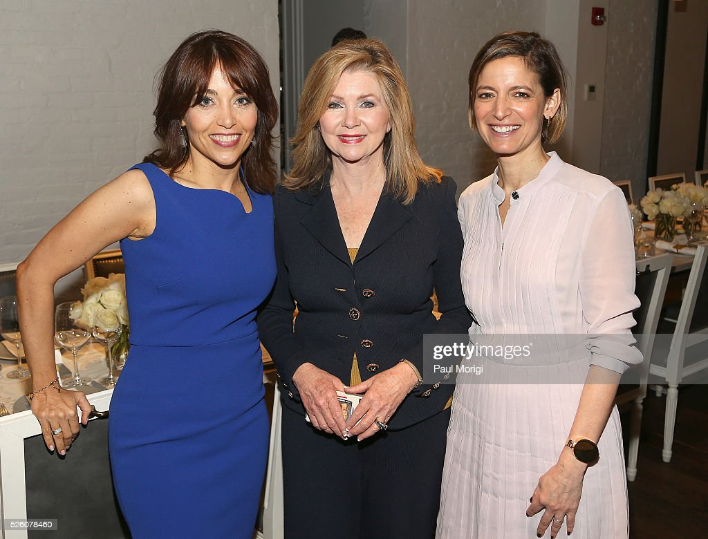 VP & Chief Privacy Officer, Policy at Facebook, Erin Egan, Congresswomen, Marcha Blackburn and Editor in Chief of Glamour magazine, Cindi Leive attend the Glamour and Facebook brunch to discuss sexism in 2016, during WHCD Weekend at Kinship on April 29, 2016 in Washington, DC.