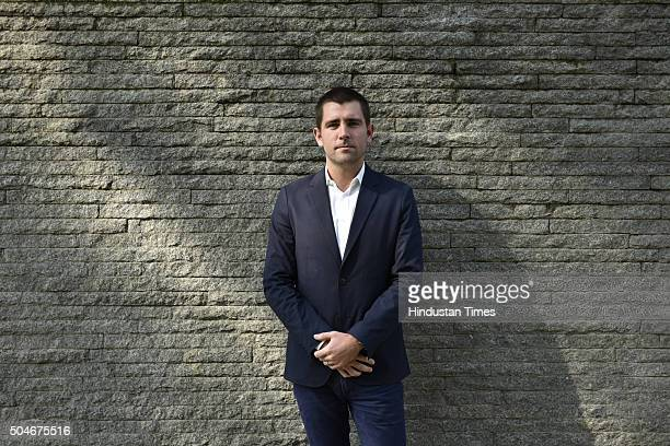 Chief Product Officer of Facebook Chris Cox poses for a profile shoot during an interview on January 12 2016 in New Delhi India Of billion FB users...
