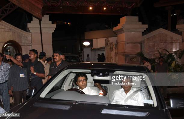 Chief Raj Thackeray comes out of Varsha' bungalow after meeting CM Prithviraj Chavan on Thursday at Malabar Hill in Mumbai