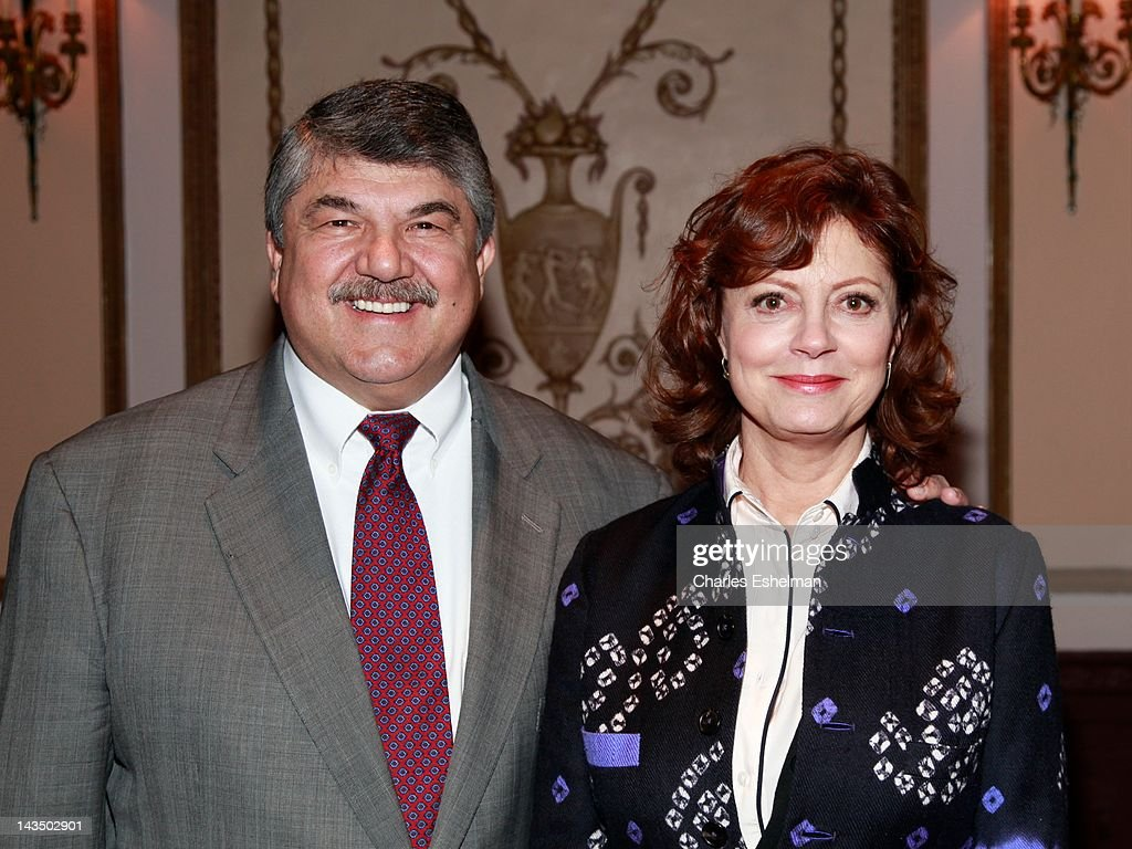 CIO chief <a gi-track='captionPersonalityLinkClicked' href=/galleries/search?phrase=Richard+Trumka&family=editorial&specificpeople=2701507 ng-click='$event.stopPropagation()'>Richard Trumka</a> and actress <a gi-track='captionPersonalityLinkClicked' href=/galleries/search?phrase=Susan+Sarandon&family=editorial&specificpeople=202474 ng-click='$event.stopPropagation()'>Susan Sarandon</a> attend the Council of School Supervisors and Administrators 50th Anniversary at The Waldorf=Astoria on April 27, 2012 in New York City.