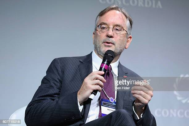 Chief Scientific Officer for Immunobiology Eli Lilly Company Dr Michael Kalos speaks at the 2016 Concordia Summit Day 1 at Grand Hyatt New York on...
