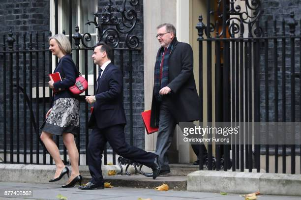 Chief Secretary to the Treasury Elizabeth Truss Secretary of State for Wales Alun Cairns and Secretary of State for Scotland David Mundell leave...