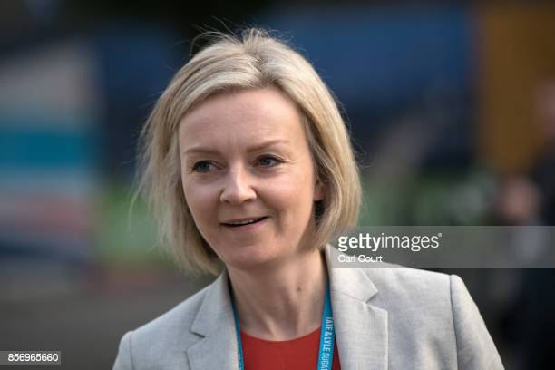 Chief Secretary to the Treasury Liz Truss attends day three of the annual Conservative Party conference on October 3 2017 in Manchester England...