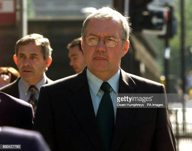 Chief Superintendent David Duckenfield arriving at Leeds Crown Court Together with exSuperintendent Bernard Murray he denies the manslaughter of two...