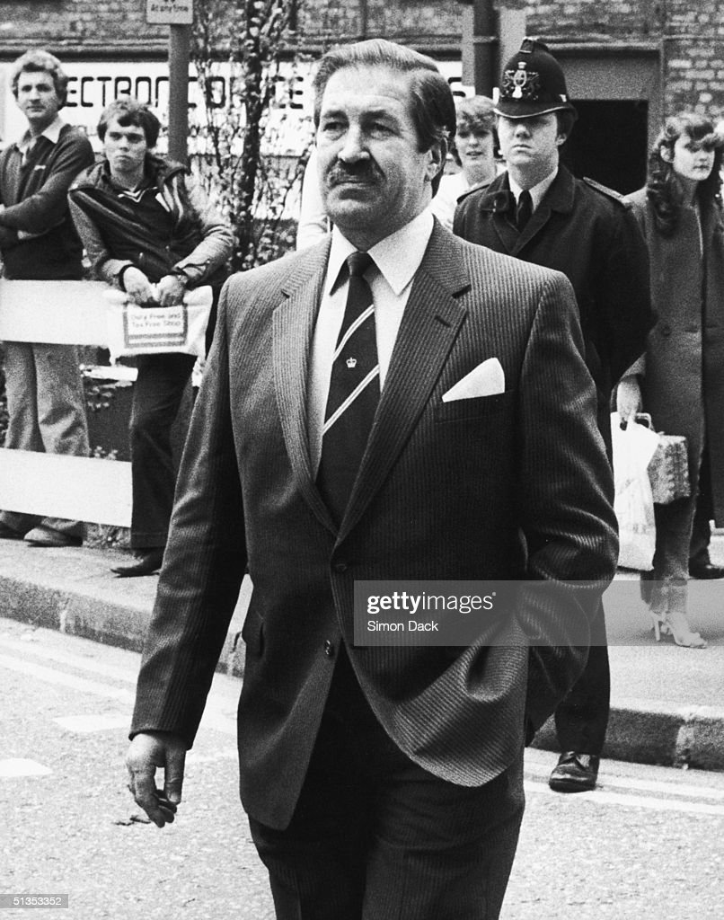 Chief Superintendent James Hobson, who led the enquiry into the 'Yorkshire Ripper' murders, arrives at the Old Bailey for the trial of Peter Sutcliffe, 5th May 1981. Sutcliffe was later convicted of 13 murders and seven attempted murders.