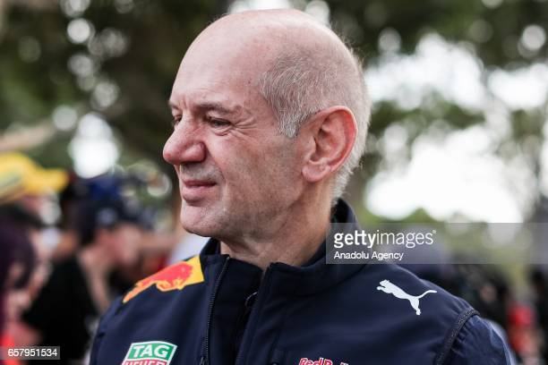 Chief Technical Officer of Red Bull Racing Adrian Newey is seen during the 2017 Rolex Australian Formula 1 Grand Prix at Albert Park circuit in...