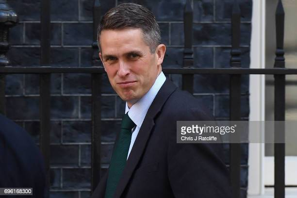 Chief Whip Gavin Williamson arrives at 10 Downing Street on June 15 2017 in London England Prime Minister Theresa May is due to hold a series of...