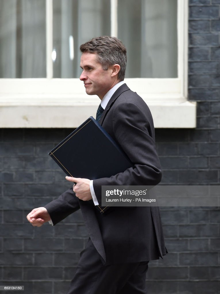 Chief Whip Gavin Williamson arriving at 10 Downing Street, London for the weekly cabinet meeting.