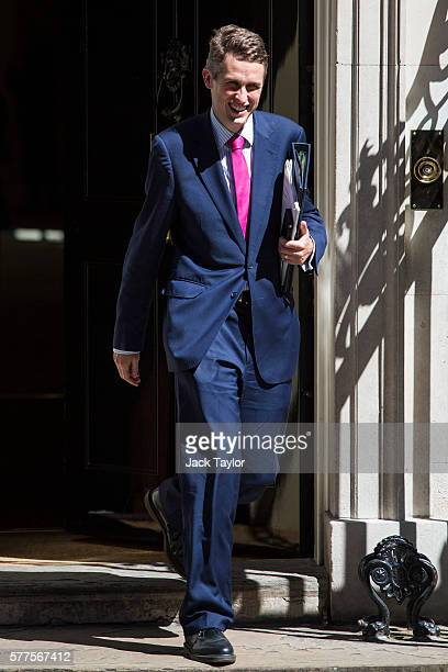 Chief Whip Gavin Williamson leaves Number 10 Downing Street following the weekly cabinet meeting on July 19 2016 in London England Theresa May holds...