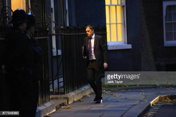 Chief Whip in the House of Commons Julian Smith arrives for a cabinet meeting ahead of the Chancellor's annual budget at 10 Downing Street on...