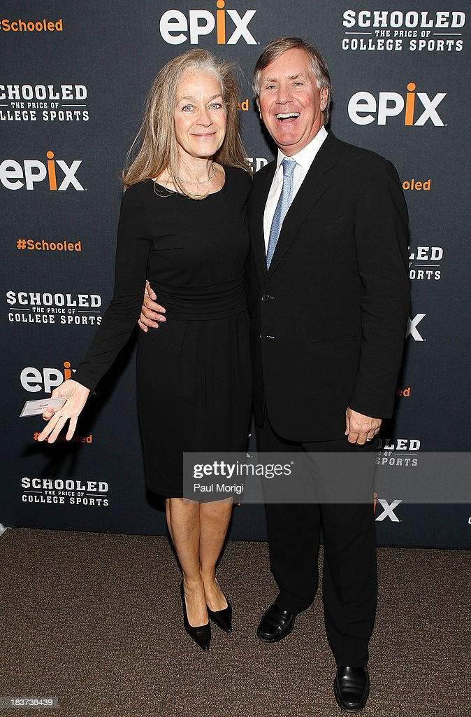 Chief-of-Staff Nora Ryan and EPIX CEO Mark Greenberg attend the EPIX screening of the original documentary 'Schooled: The Price of College Sports' at The NCTA Building on October 9, 2013 in Washington, DC.