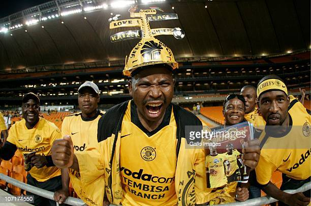 Chiefs fans show their support during the Absa Premiership match between Kaizer Chiefs and Vasco da Gama at FNB Stadium on November 27 2010 in Soweto...