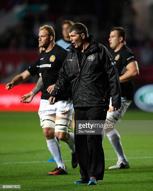 Chiefs head coach Rob Baxter looks on before the Aviva Premiership match between Bristol Rugby and Exeter Chiefs at Ashton Gate on September 23 2016...