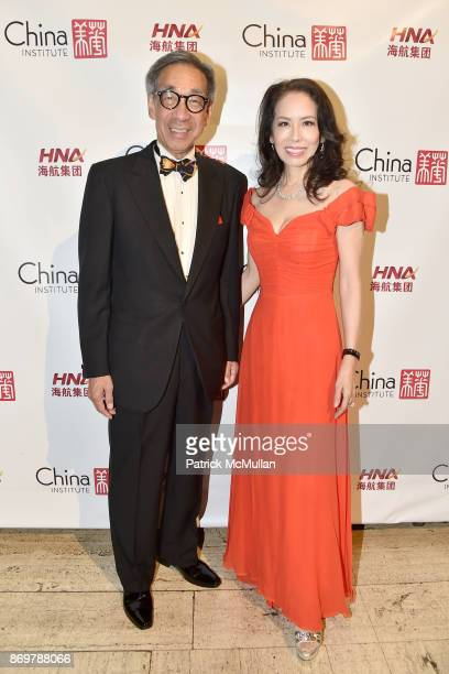 Chien Chung Pei and Angela Chen attend China Institute 2017 Blue Cloud Gala at Cipriani 25 Broadway on November 2 2017 in New York City