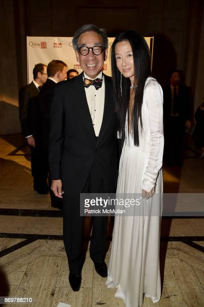 Chien Chung Pei and Vera Wang attend China Institute 2017 Blue Cloud Gala at Cipriani 25 Broadway on November 2 2017 in New York City