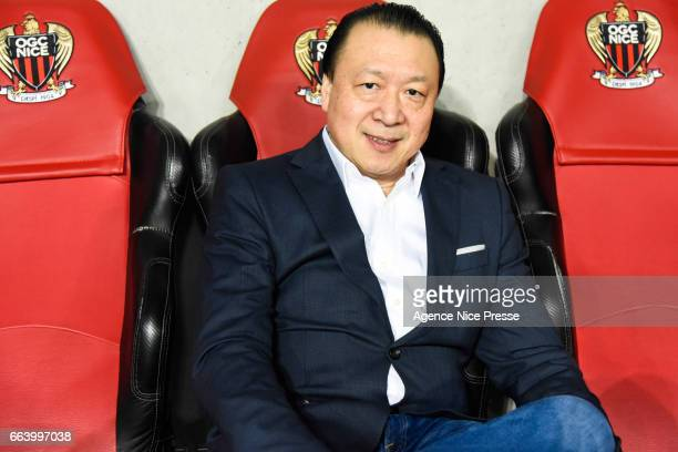 Chien Lee co owner of Nice during the French Ligue 1 match between Nice and Bordeaux at Allianz Rivera on April 2 2017 in Nice France
