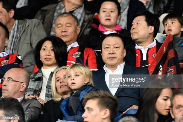 Chien Lee coowner of Nice during the French Ligue 1 match between Nice and Paris Saint Germain at Allianz Riviera on April 30 2017 in Nice France