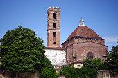 Chiesa di S.Giovanni, vista dalla Piazza Antelminelli in Lucca Italy