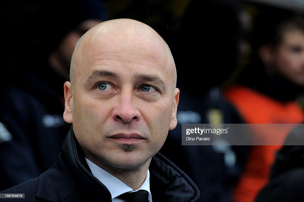 Chievo Verona head coach Eugenio Corini looks on during the Serie A match between AC Chievo Verona and Parma FC at Stadio Marc'Antonio Bentegodi on January 20, 2013 in Verona, Italy.
