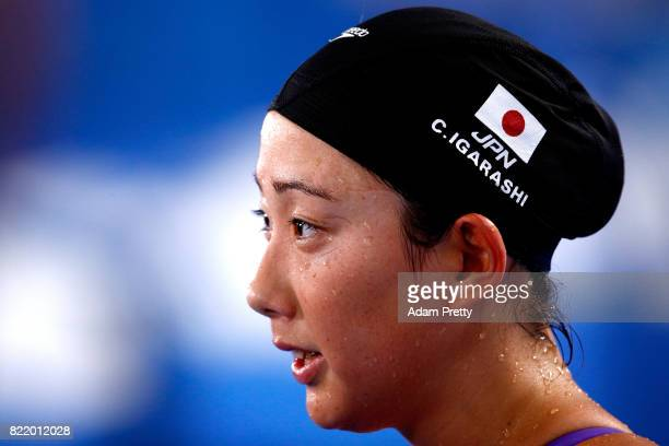 Chihiro Igarashi of Japan competes during the Women's 200m Freestyle Heats on day twelve of the Budapest 2017 FINA World Championships on July 25...