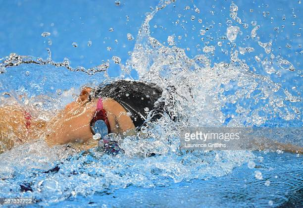 Chihiro Igarashi of Japan competes in the Women's 200m Freestyle heat on Day 3 of the Rio 2016 Olympic Games at the Olympic Aquatics Stadium on...