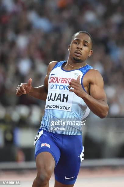 Chijindu UJAH Great Britain during 100 meter first round at London Stadium in London on August 4 2017 at the 2017 IAAF World Championships athletics