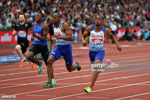 Chijindu Ujah of Great Britain wins the Mens 100m during the Muller Grand Prix Birmingham meeting on August 20 2017 in Birmingham United Kingdom