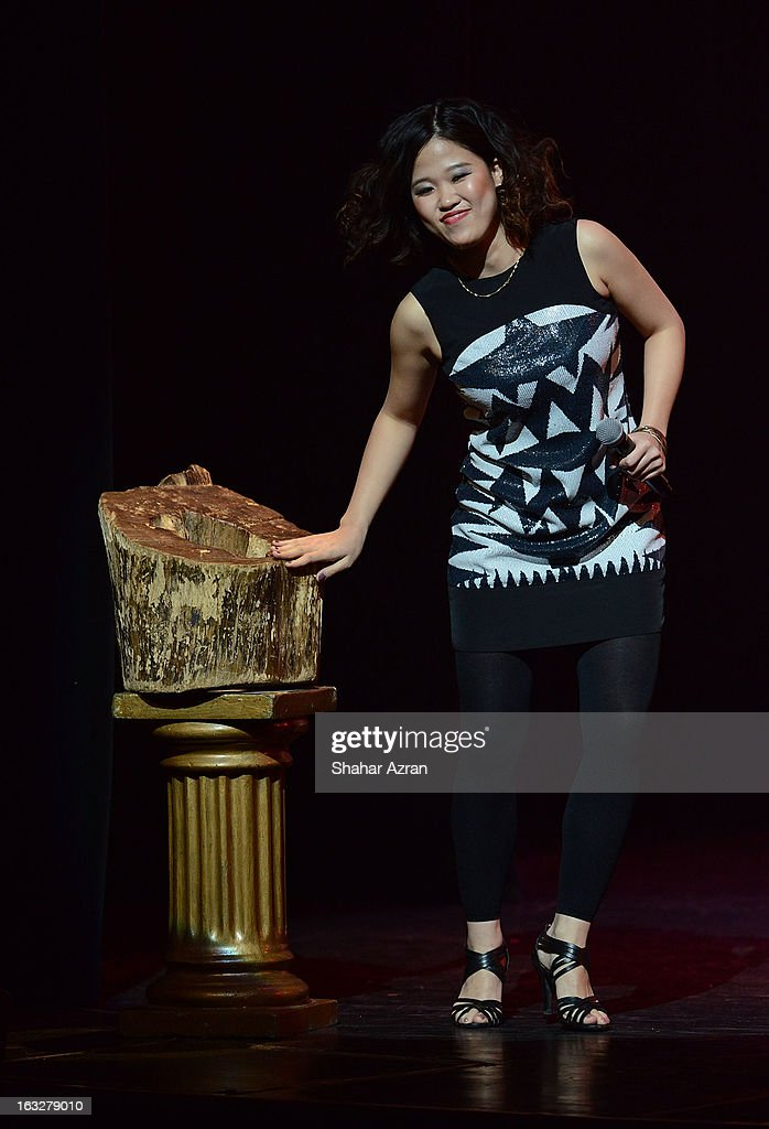 Chika Mikawa performs during Amateur Night at The Apollo Theater on March 6, 2013 in New York City.
