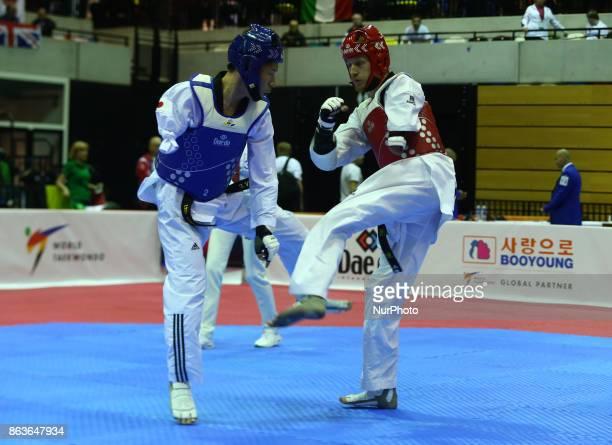 Chikara Ito of Japan against Matti Sairanen of Finland in the K44 Male K44 61 Match 312 during 7th World Para Taekwondo Championships 2017 at Copper...