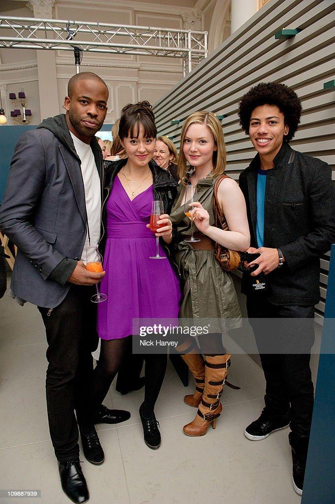Chike Okonkwo Susannah Fielding Holliday Grainger and Luke Bailey attend Vanity Fair rocks at the Corinthia Hotel London on March 8 2011 in London...