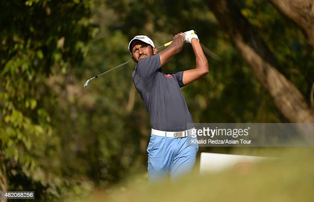 Chikka S of India in action during round four of the Asian Tour Qualifying School presented by Sports Authority of Thailand at the Springfield Royal...