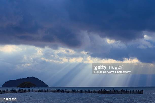 Chikubu Island and heavenly light