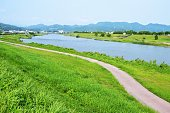 Chikugo-river Asakura-city Fukuoka Japan
