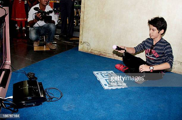 Child actor Darsheel Safary during the launch of new PlayStation game in Mumbai on November 20 2012