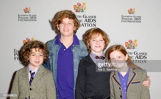 Child actors Aiden Foley LJ Foley Liam Foley and Clare Foley attend the 2011 Elizabeth Glaser Pediatric AIDS Foundation Kids For Kids Family Carnival...